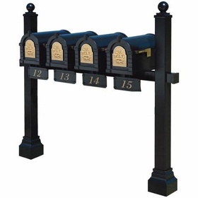 Keystone Eagle Quad Multi-Mount Mailbox Post (Mailboxes not included)
