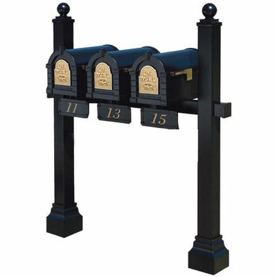 Keystone Series Triple Multi-Mount Mailbox Post (Mailboxes not included)