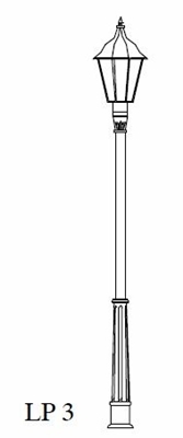 Outdoor Lamp Post with Decorative Base # 3