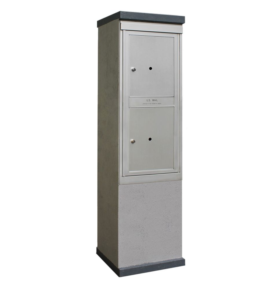 2b Global Mailboxes Outdoor Mailbox Kiosk 2 Parcel Lockers Usps Approved