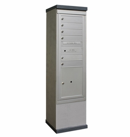 Outdoor Mailbox Kiosk - 6 Doors 1 Parcel Locker - USPS Approved