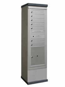 Outdoor Mailbox Kiosk - 7 Doors 1 Parcel Locker - USPS Approved