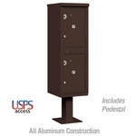 Salsbury 3302BRZ-U Outdoor Parcel Locker - 2 Compartments - Bronze - USPS Access
