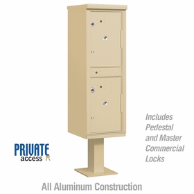 Salsbury 3302SAN-P Outdoor Parcel Locker Sandstone 2 Compartments