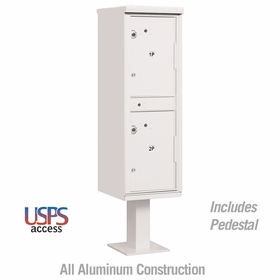 Salsbury 3302WHT-U Outdoor Parcel Locker White 2 Compartments