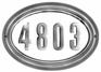 Edgewood Oval Lighted Address Plaque with Cast Aluminum Numbers - Pewter Frame