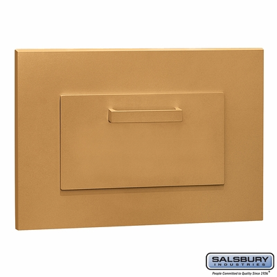 Salsbury 4955BRS Parcel Book Drop Brass Finish