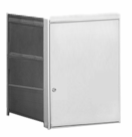 Parcel Locker Door, Front Load, Anodized Aluminum Finish 3H x 2W