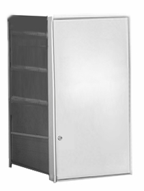 Parcel Locker Door, Front Load, Anodized Aluminum Finish 4H x 2W