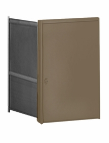 Parcel Locker Door, Front Load, Bronze Powder Coat Finish 2H x 2W
