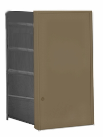 Parcel Locker Door, Front Load, Bronze Powder Coat Finish 4H x 2W