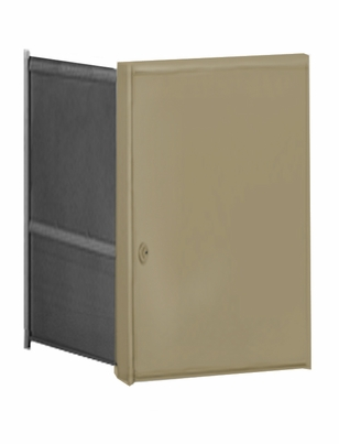 Parcel Locker Door, Front Load, Gold Powder Coat Finish 2H x 2W