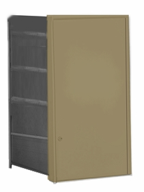 Parcel Locker Door, Front Load, Gold Powder Coat Finish 4H x 2W