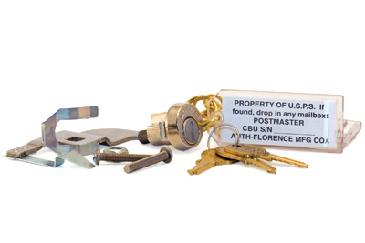 Parcel Locker Lock Assembly -Includes Lock, Cam, and Key Tags