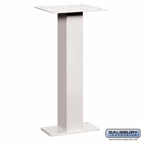 Salsbury 4285WHT Pedestal For Pedestal Drop Boxes White