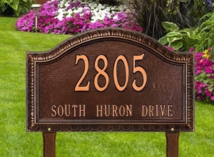 Penhurst Arch Grande Lawn Address Sign - One Line