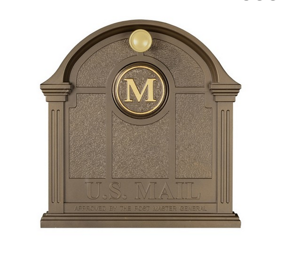 Whitehall Personalized Front Door Monogram For Balmoral Mailbox   Bronze