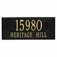 Whitehall Personalized Side Plaque - Black