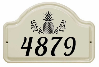 Whitehall Pineapple Ceramic Arch - One Line Standard Wall Plaque - Black