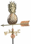 Pineapple Weathervane - Polished Copper