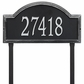 Providence Arch Estate Lawn Address Sign - One Line