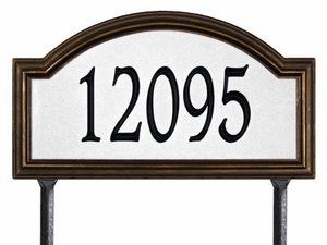 Providence Arch - Estate Reflective Lawn Address Sign - One Line