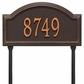 Providence Arch Standard Lawn Address Sign - One Line