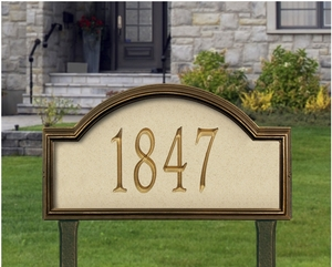Providence Artisan Stone Estate Lawn Address Sign - One Line