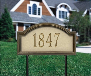 Providence Artisan Stone Standard Lawn Address Sign - One Line
