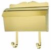 Provincial Collection Brass Mailboxes (roll top) in Smooth Polished Brass
