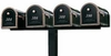 Quad Standard Surface Mount Post System (Mailboxes Purchased Separately)