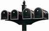 Quadruple Decorative Post System (Mailboxes Purchased Separately)