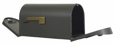 Rear Access Curbside Mailbox with Two Doors