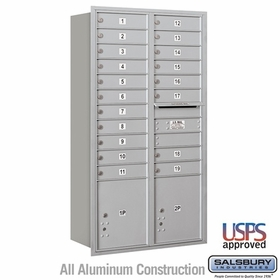 Rear Loading Horizontal Mailboxes 19 or More Doors