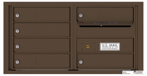 Rear Loading Double Column Commercial Mailbox with 6 Tenant Compartments