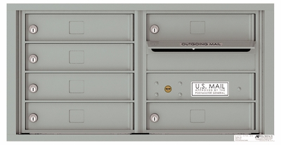 Front Loading Double Column Commercial Mailbox with 6 Tenant Compartments