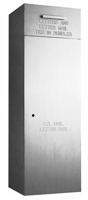 "Rear Loading, Fully Recessed, Brushed Aluminum 36"" High Mail Collection Drop Box"