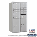 Rear Loading Horizontal Mailboxes 11 to 12 Doors