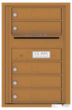 Rear Loading Single Column Commercial Mailbox with 5 Tenant Doors