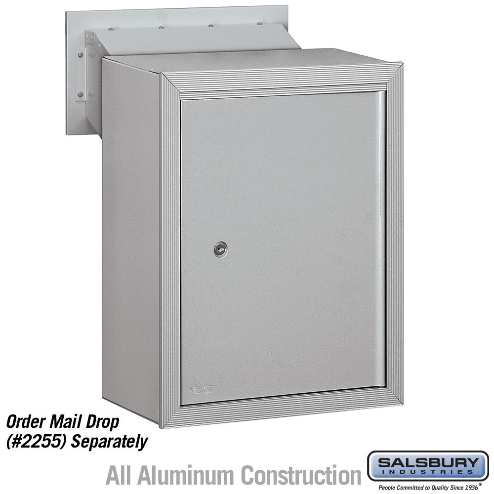 Charmant Salsbury 2256ALM Receptacle   Option For Mail Drop   Aluminum