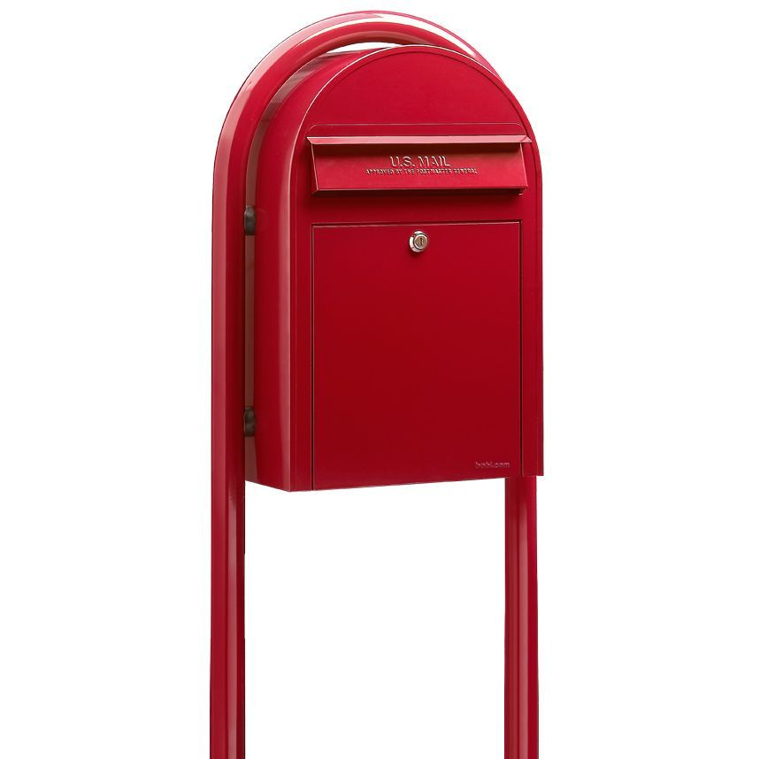 Bobi Mailbo Usps Clic Red Front Access Mailbox Post Included Residential