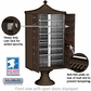 Salsbury 3313R-BRZ-U 13 Door Regency Decorative Cluster Mailbox Bronze