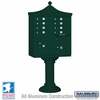 Salsbury 3308R-GRN-U 8 Door Regency Decorative Cluster Mailbox Green