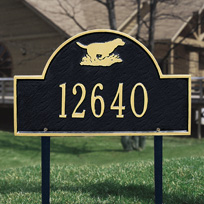 Retriever Arch - Standard Lawn Address Sign - One Line