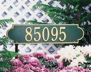 Richmond Horizontal - Estate Lawn Address Sign - One Line
