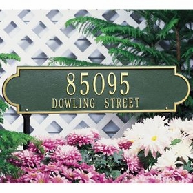 Richmond Horizontal - Estate Lawn Address Sign - Two Line