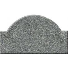 Ridgecrest Arch Solid Granite Address Plaque with Engraved Text - Black Natural Granite Color