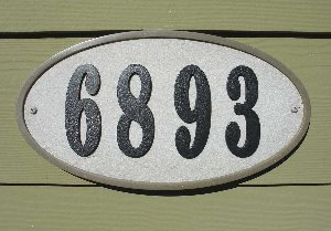 "Ridgestone Oval (13 1/4"" x 7 1/8"") Address Plaque System - Slate"