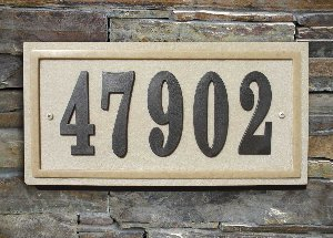Slate and Sandstone Address Plaques