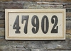 "Ridgestone Rectangle (13 1/2"" x 7"") Address Plaque System - Sandstone"